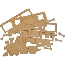 Puzzle cadre train en carton 15x32 cm
