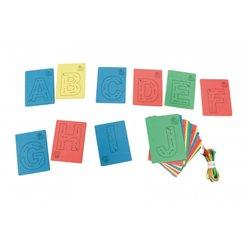 Laçage-delaçage lettres mousse EVA