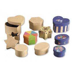 Boîte carton cœurs 80 mm (Lot de 10)