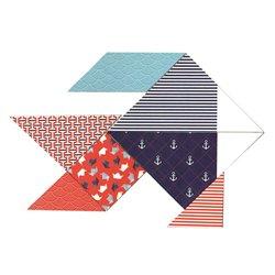 Tangram carton blanc à décorer 20x20 cm (Lot de 6)