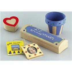 Boîte cœur porte photo 75 x 75 x 40 mm (Lot de 10)