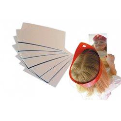 Feuille miroir rectangulaire à découper (Pochette de 8)