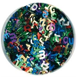 Bocal 120 g sequins alphabet 6 mm