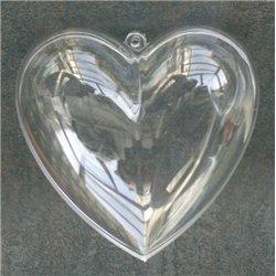 Cœurs plastique 60 x 30 mm (Lot de 6)