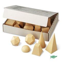 Ensemble 15 figurines géométriques en plastique