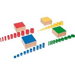 Montessori Cylindres des couleurs