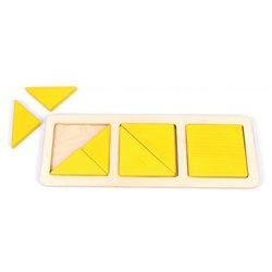 Lot de 3 encastrements géométriques