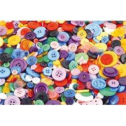 Sachet 200g boutons plastique tailles et couleurs assorties