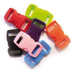 Sachet de 10 clips plastique 10mm en couleurs assorties