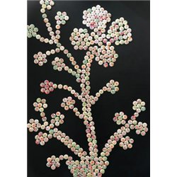 Sachet 180 boutons bois assortis ' fleurs '