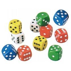 Set de 20 dés à points de couleurs assorties