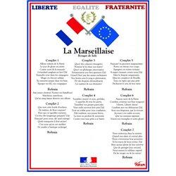 Affiche la Marseillaise Pichon 50x70cm