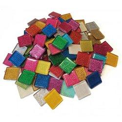 Pot 500 g mosaïque pailletée aux reflets lumineux forme carrée dim. 20 x 20 mm