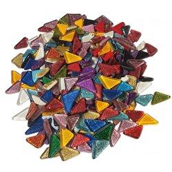 Pot 500 g mosaïque pailletée aux reflets lumineux forme triangle dim. 20 x 20 mm