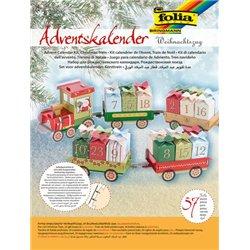Kit calendrier de l'avent en carton : le train de noël