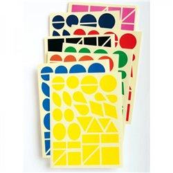 Maxi-gommettes géométriques - Lot de 5 pochettes
