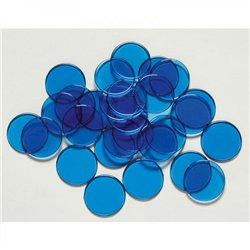 Maxi-jetons en plastique bleu