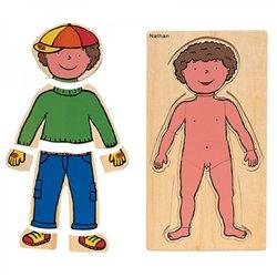 Puzzles découverte du corps - Le garçon