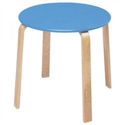 Table de cuisine bleue