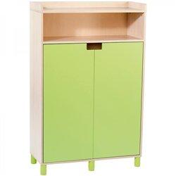 Grand meuble à portes vert Clorofile