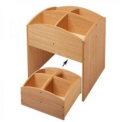 Bacs à livres 4 cases haut et bas hêtre Mobinathan - Offre spéciale