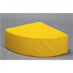 Pouf quart de cercle jaune