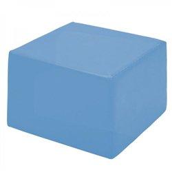 Pouf carré bleu