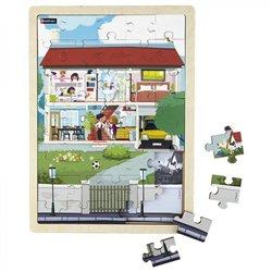 Puzzle bois juxtaposable - La maison