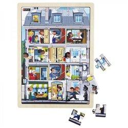 Puzzle bois juxtaposable - L'immeuble