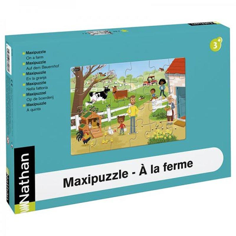 Maxipuzzle carton - À la ferme