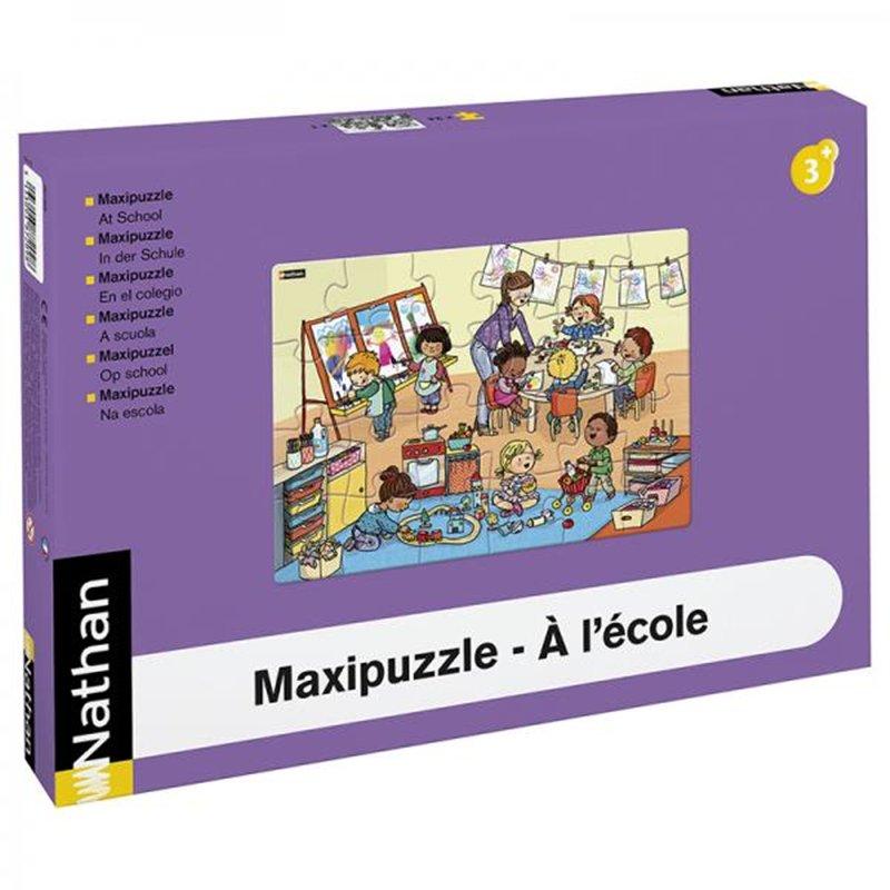 Maxipuzzle carton - À l'école