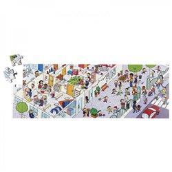 Puzzles bois juxtaposables - La cour d'école + L'école - Offre spéciale