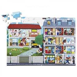 Puzzles bois juxtaposables - L'immeuble + La maison - Offre spéciale