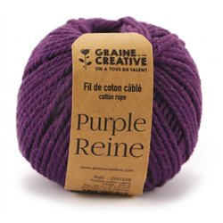 Pelote de 200 g environ, 80 m, Ø 2,5 mm - Violet