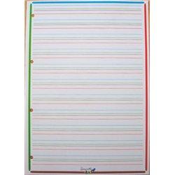 Page feuillet perforée simple interligne 3 mm 90 g 21 x 29,7 cm (Etui de 100)