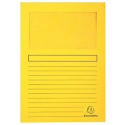Pochette coin en carte à fenêtre 22x31 cm (Paquet de 100) - Jaune