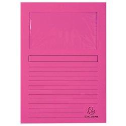 Pochette coin en carte à fenêtre 22x31 cm (Paquet de 100) - Rose