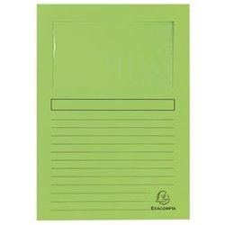 Pochette coin en carte à fenêtre 22x31 cm (Paquet de 100) - Vert