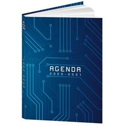 Agenda journalier couverture vernie piqûre 12.5x17.5 cm