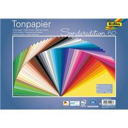 Paquet de 50 feuilles 25x35 cm 130 g couleurs assorties