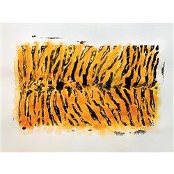 Lot de 10 plaques animaux sauvages 21.5 x 15 cm
