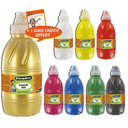 Assortiment 8 flacons 500 ml gouache translucide mate