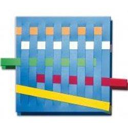 Lot de 4 planches à tisser carrés + 16 bandes en plastique souple
