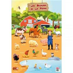 Poster Les animaux de la ferme