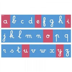 Tracés rugueux muraux - Lettres cursives