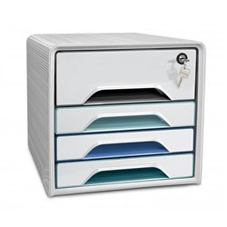 Module 4 tiroirs à clé Smoove Scure CEP Dim. 36 x 28,8 x 27,1 cm