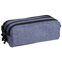 Trousse à crayons - Fourre-tout rectangle bleu Dim.22 x 9.5 x 10 cm