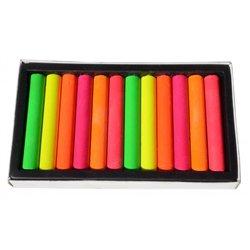 Boîte 12 pastels à l'huile fluo 70 mm Ø 10 mm