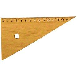 Equerre 60° en bois naturel 16 cm graduation 18,5 cm
