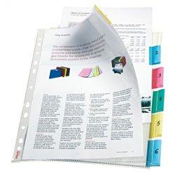 Jeu 6 pochettes intercalaires plastique format 21 x 29.7 cm